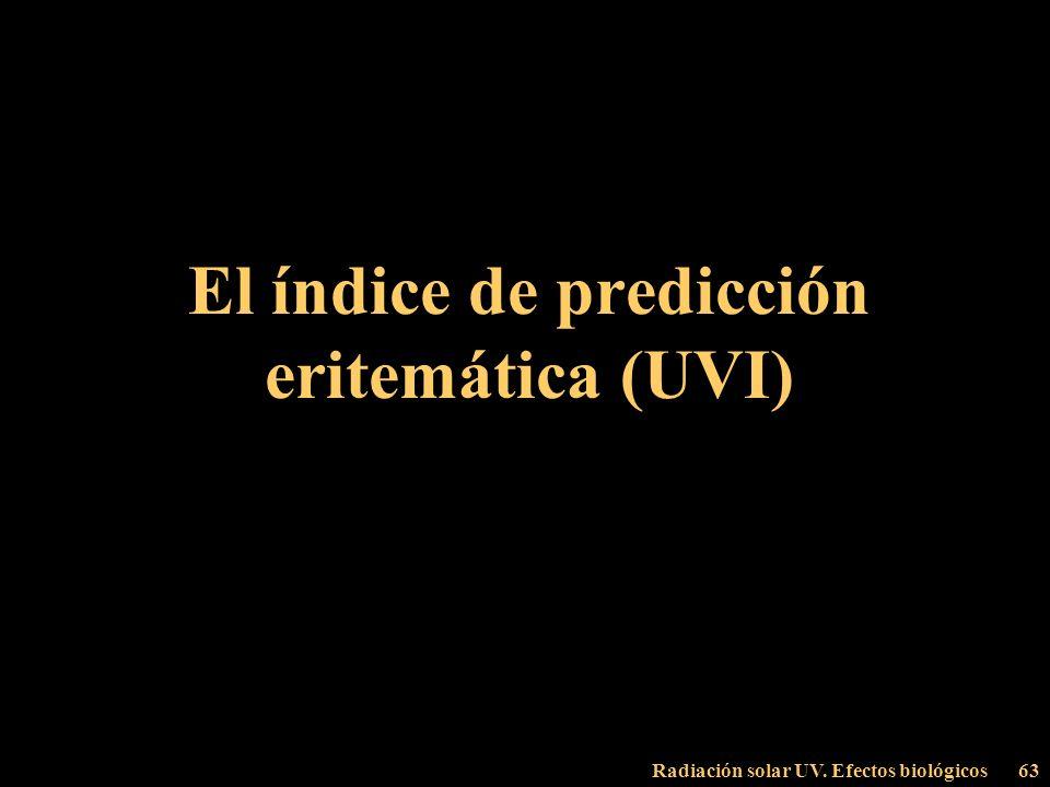 El índice de predicción eritemática (UVI)