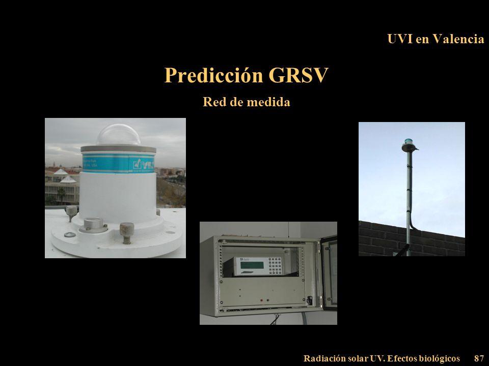 Predicción GRSV UVI en Valencia Red de medida