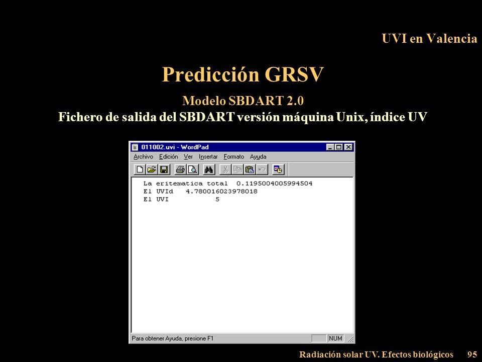 Fichero de salida del SBDART versión máquina Unix, índice UV
