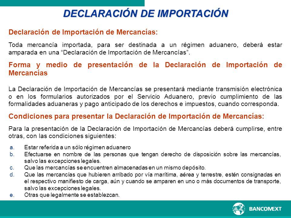 DECLARACIÓN DE IMPORTACIÓN