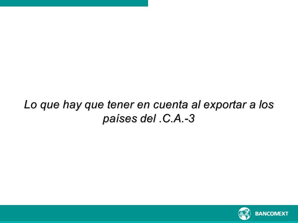 Lo que hay que tener en cuenta al exportar a los países del .C.A.-3