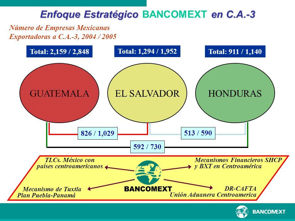 Enfoque Estratégico BANCOMEXT en C.A.-3 países centroamericanos