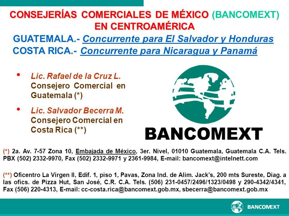 CONSEJERÍAS COMERCIALES DE MÉXICO (BANCOMEXT)