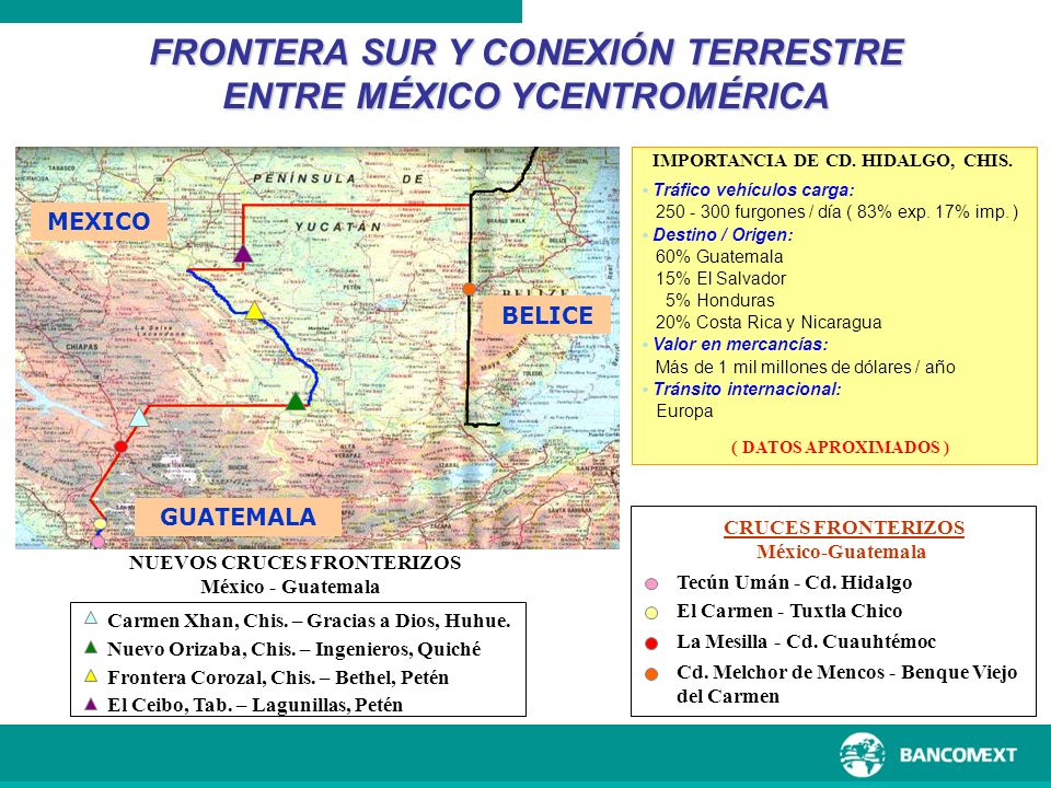 FRONTERA SUR Y CONEXIÓN TERRESTRE ENTRE MÉXICO YCENTROMÉRICA