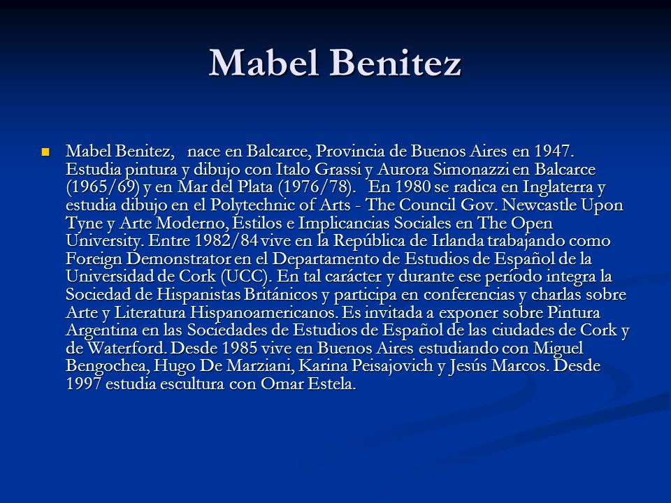 Mabel Benitez