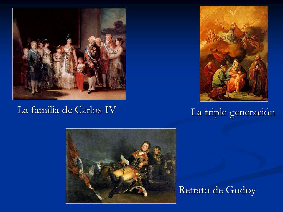 La familia de Carlos IV La triple generación Retrato de Godoy