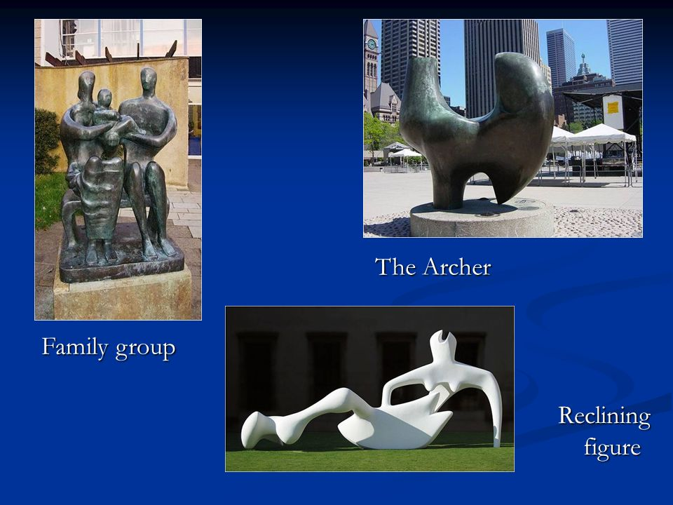 The Archer Family group Reclining figure