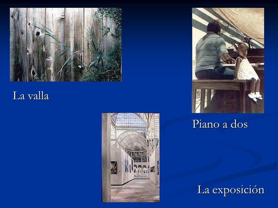 La valla Piano a dos La exposición