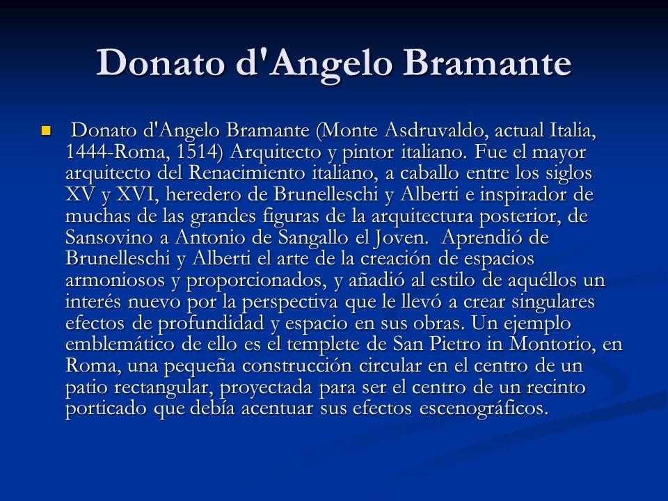 Donato d Angelo Bramante