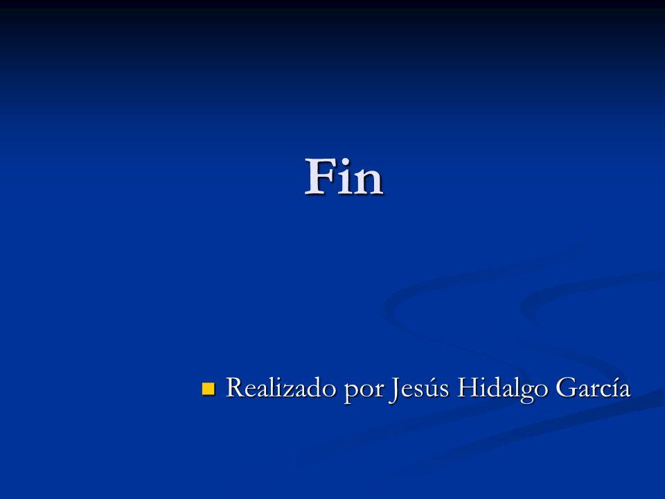 Fin Realizado por Jesús Hidalgo García