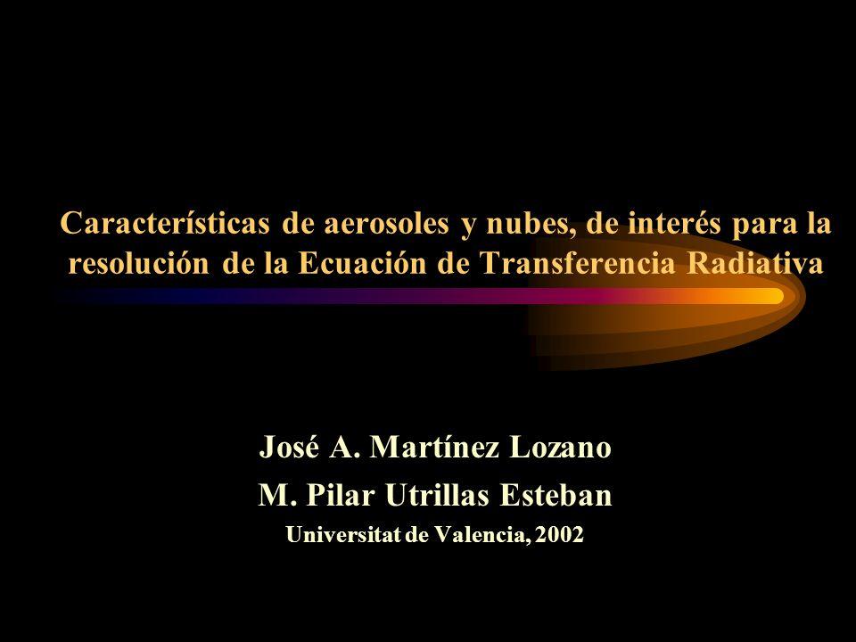 M. Pilar Utrillas Esteban Universitat de Valencia, 2002