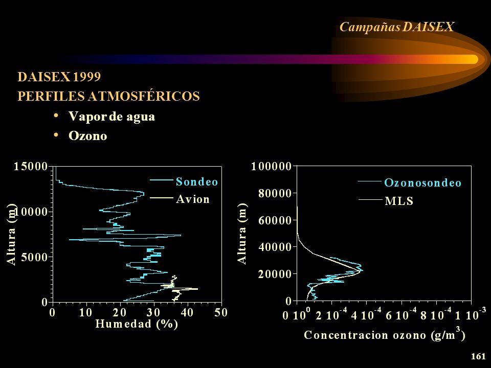Campañas DAISEX DAISEX 1999 PERFILES ATMOSFÉRICOS Vapor de agua Ozono