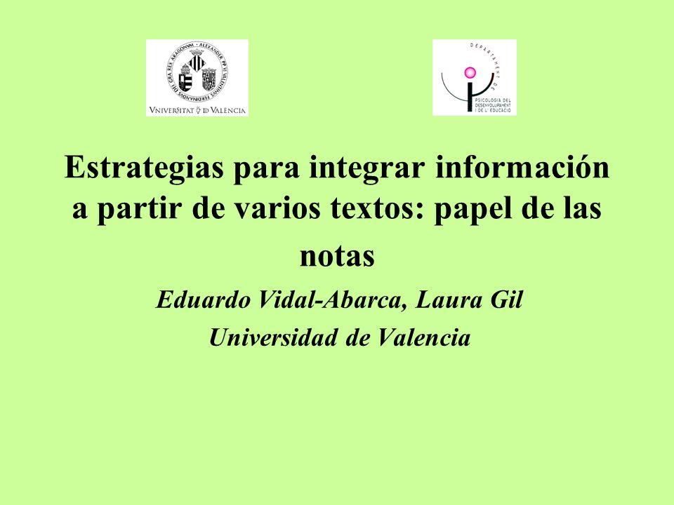 Eduardo Vidal-Abarca, Laura Gil Universidad de Valencia