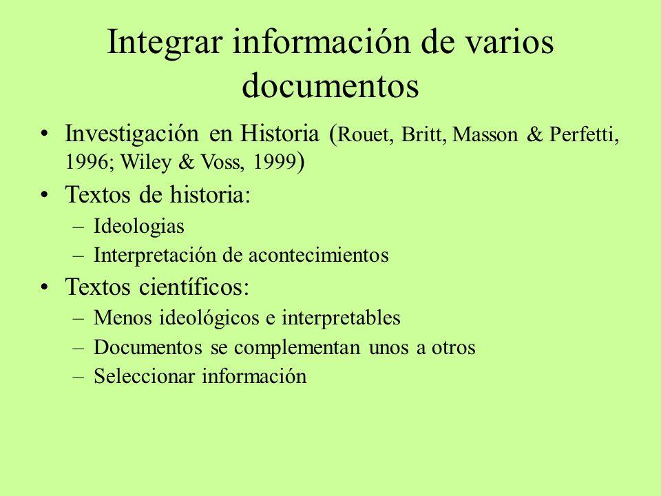 Integrar información de varios documentos