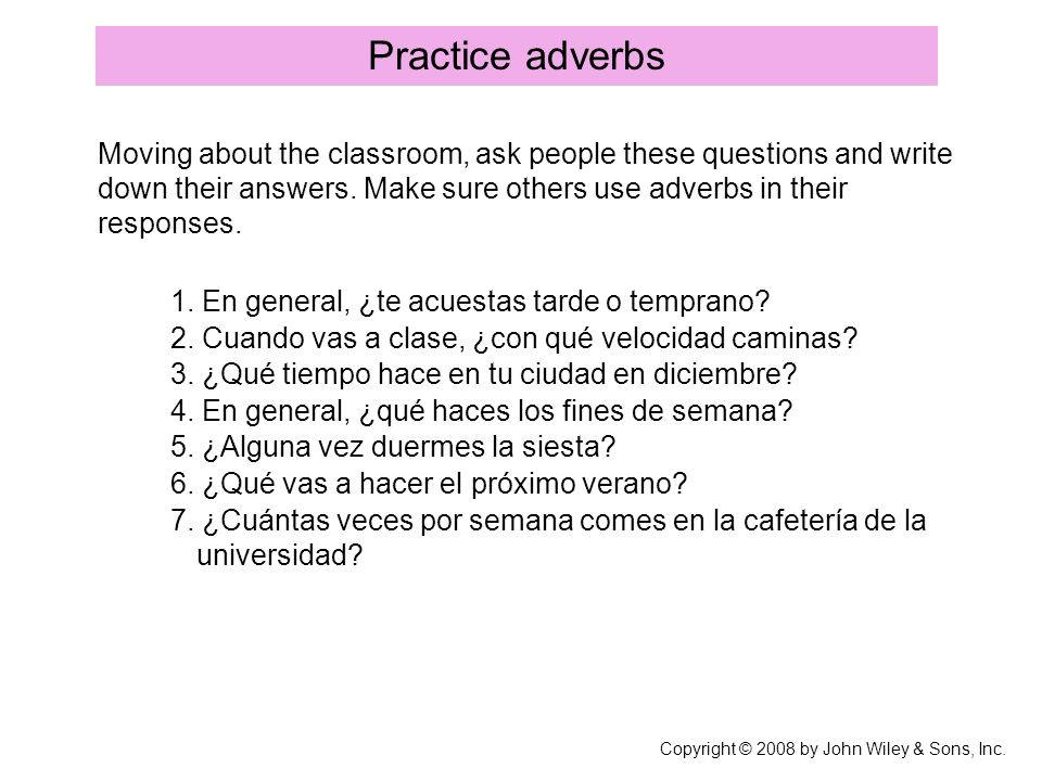 Practice adverbs