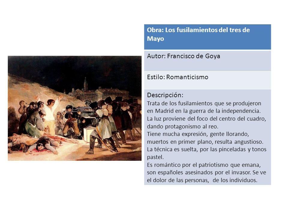 Obra: Los fusilamientos del tres de Mayo