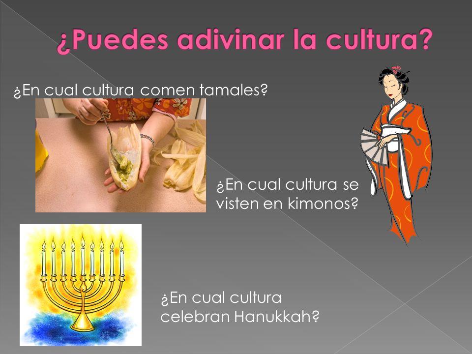 ¿Puedes adivinar la cultura