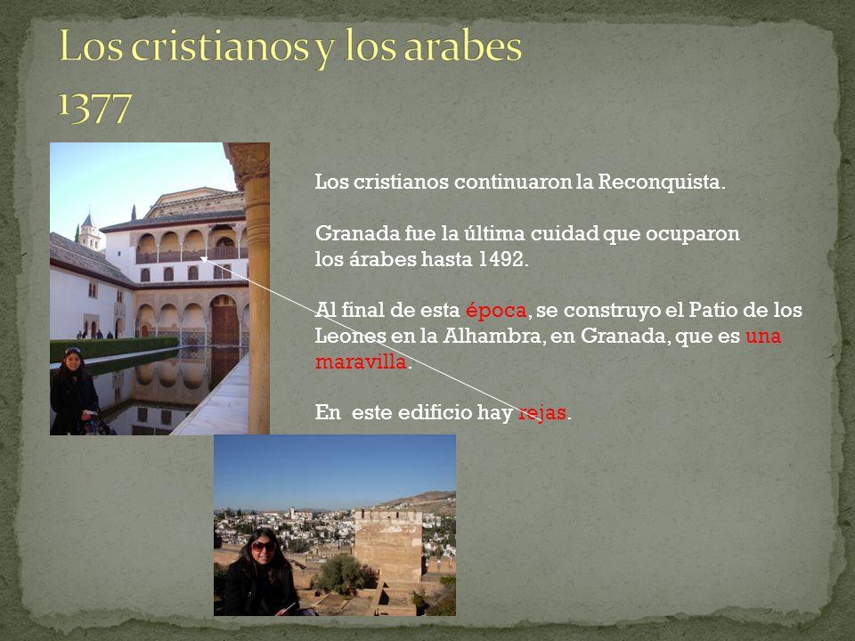 Los cristianos y los arabes 1377