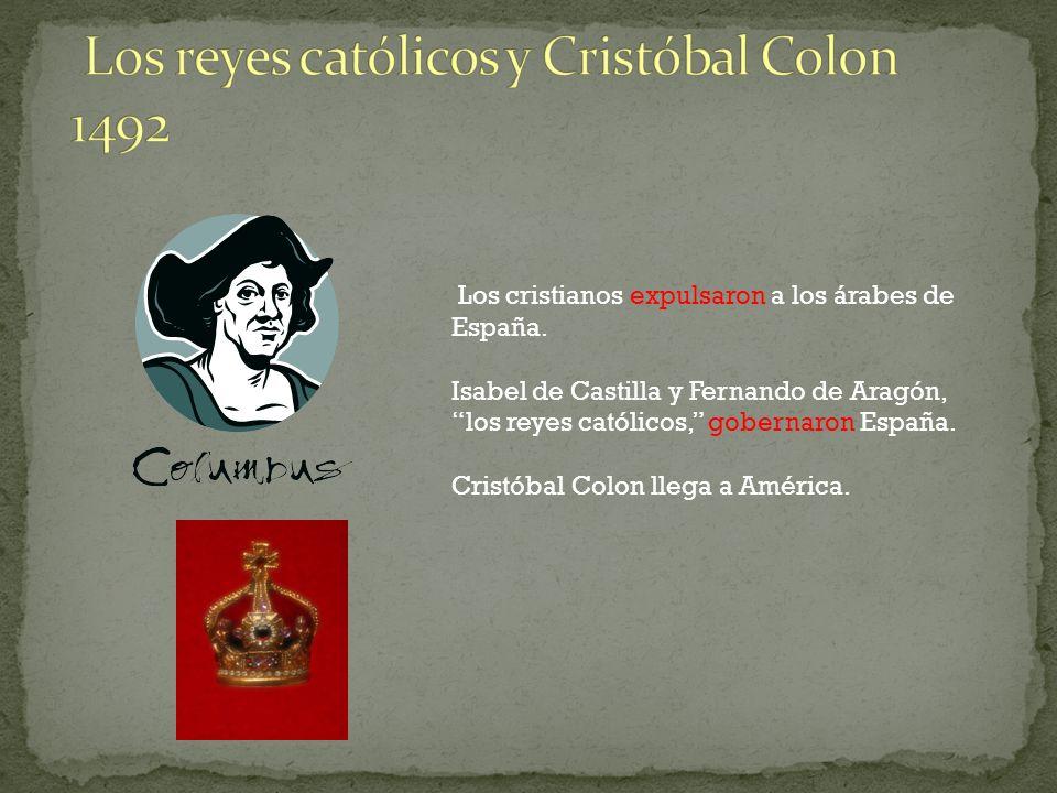Los reyes católicos y Cristóbal Colon 1492