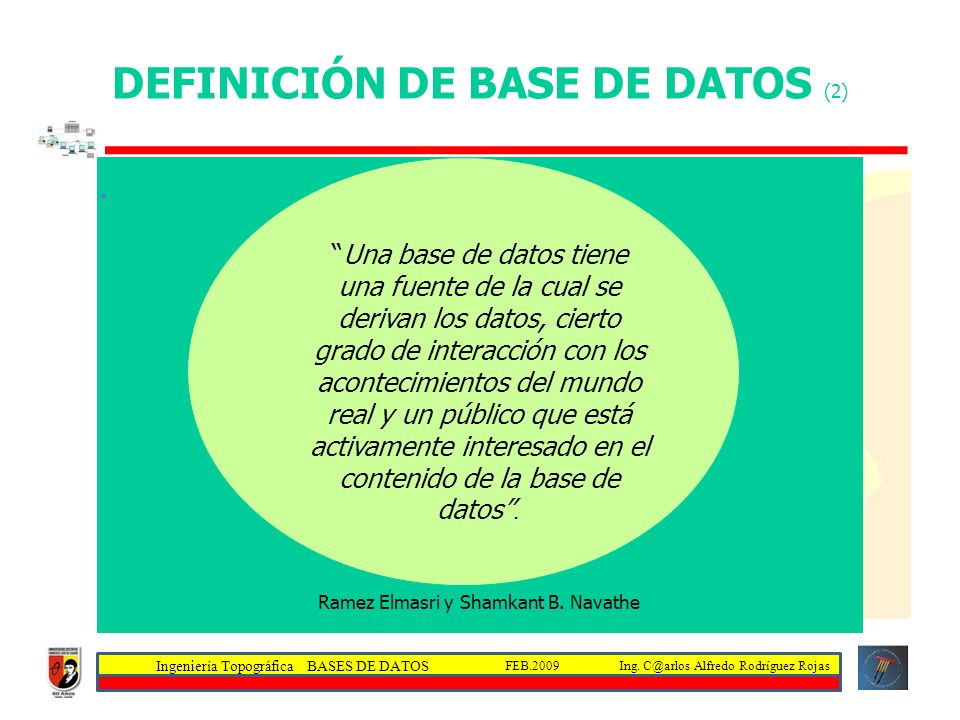 DEFINICIÓN DE BASE DE DATOS (2)