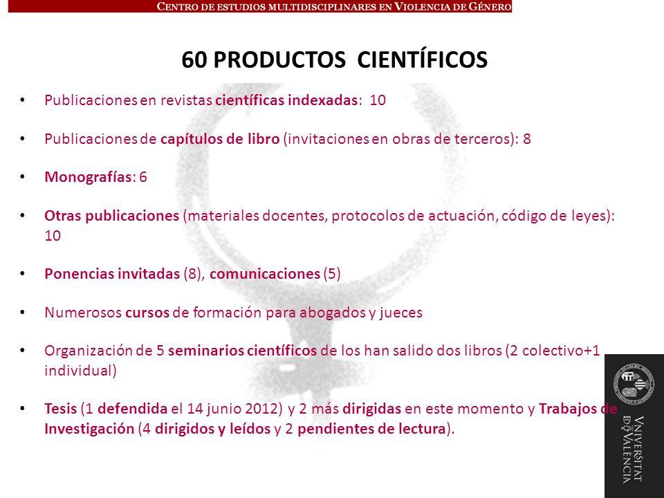 60 PRODUCTOS CIENTÍFICOS