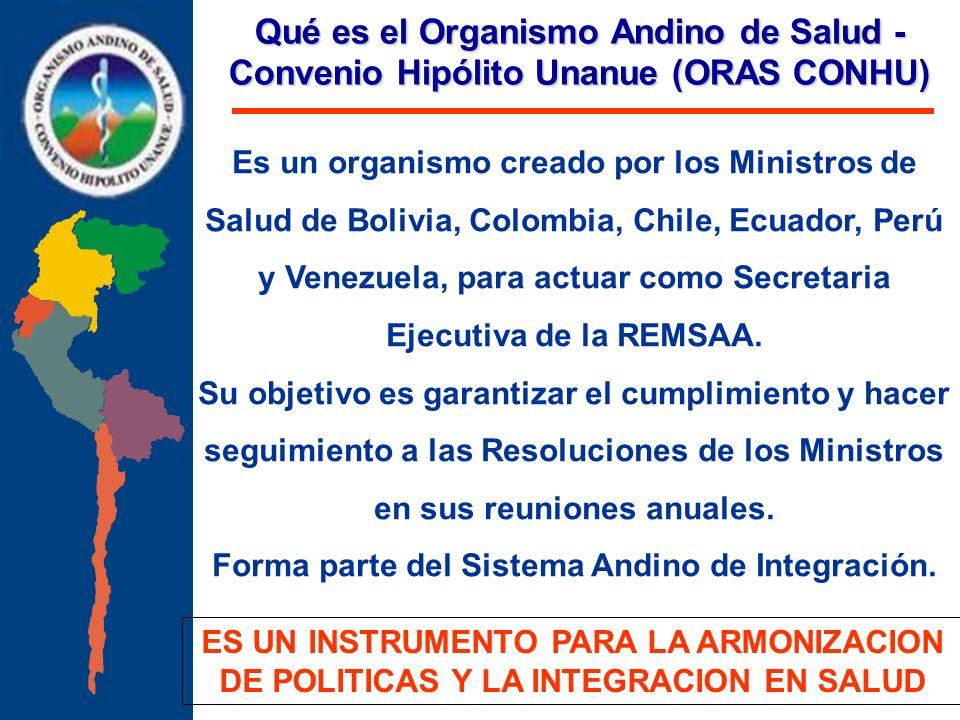 Forma parte del Sistema Andino de Integración.