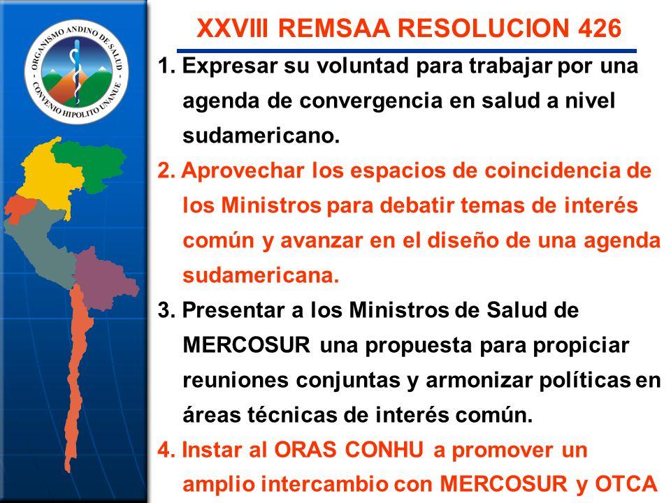 XXVIII REMSAA RESOLUCION 426