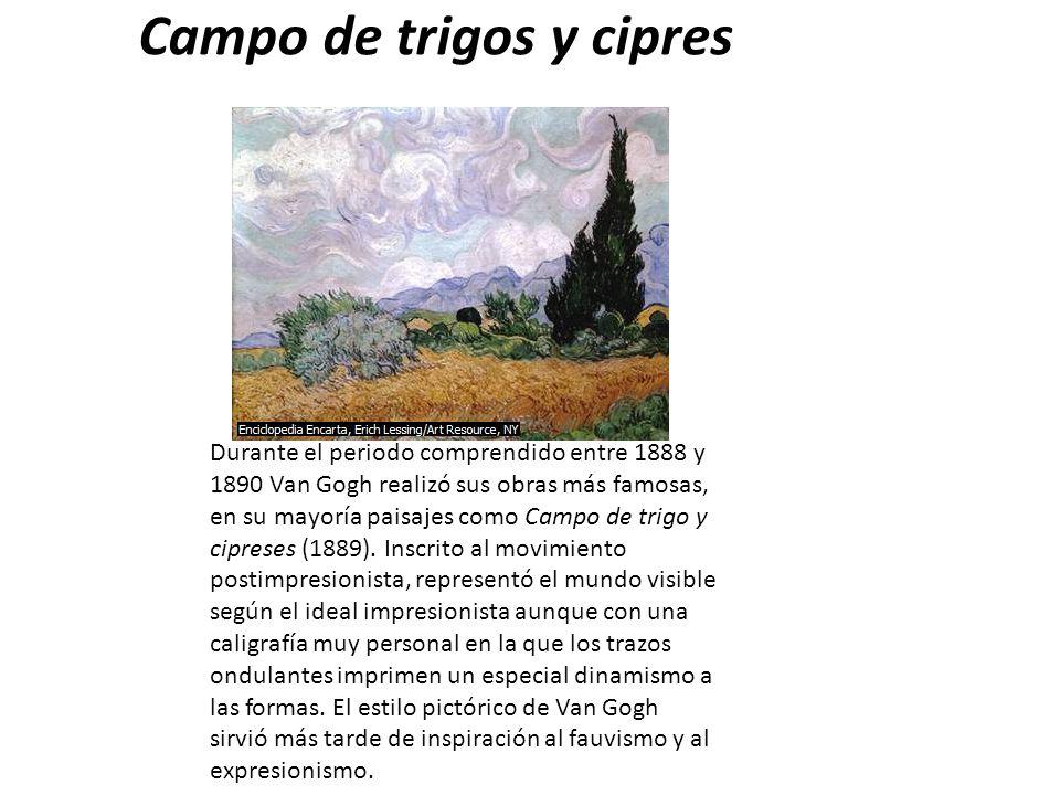 Campo de trigos y cipres
