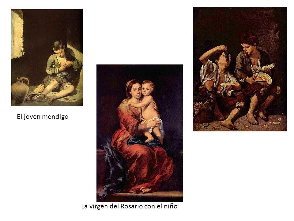 El joven mendigo La virgen del Rosario con el niño