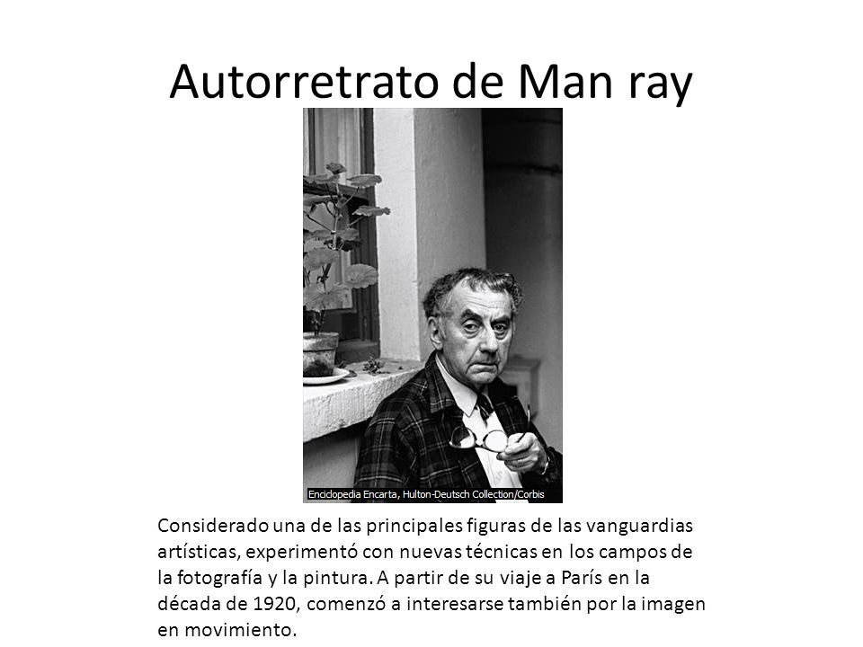 Autorretrato de Man ray