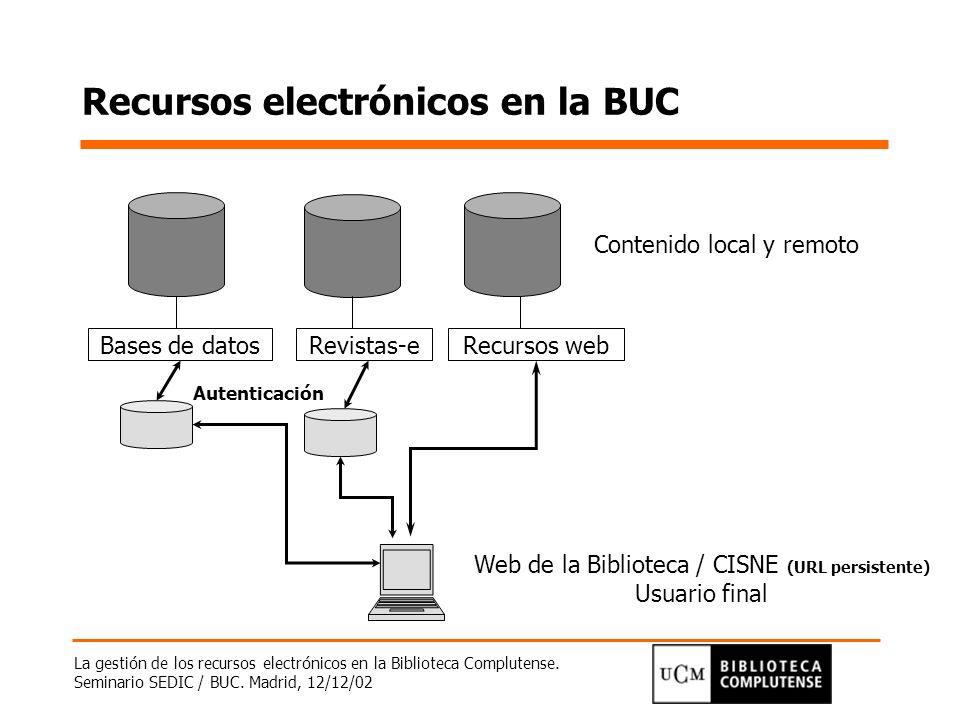 Recursos electrónicos en la BUC