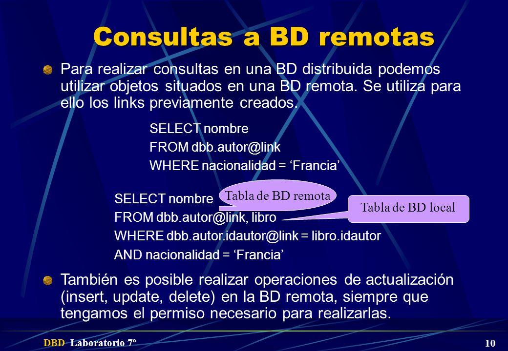 Consultas a BD remotas