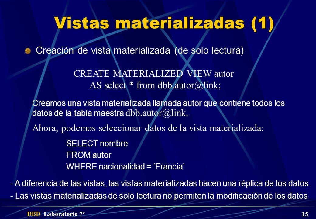 Vistas materializadas (1)
