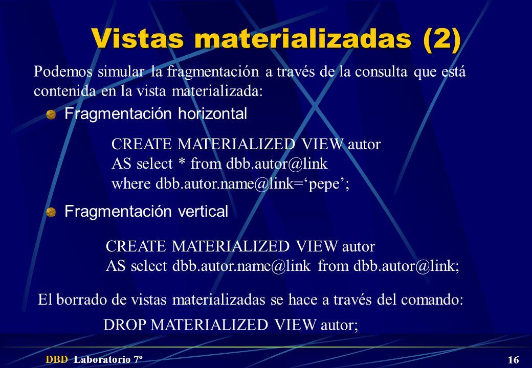 Vistas materializadas (2)