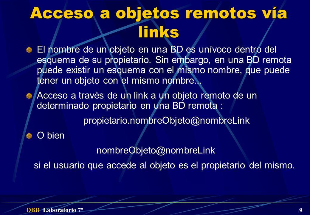 Acceso a objetos remotos vía links