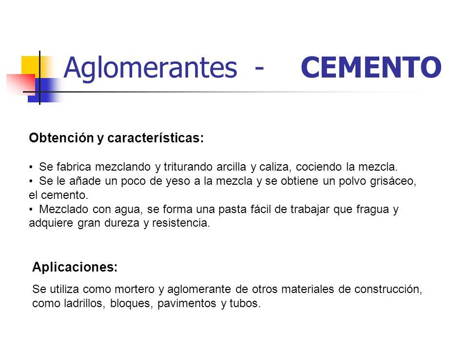 Aglomerantes - CEMENTO