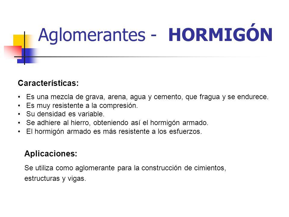 Aglomerantes - HORMIGÓN