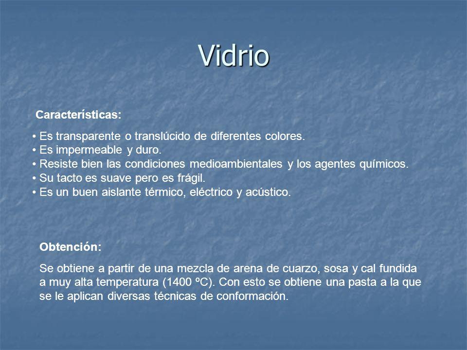 Vidrio Características: