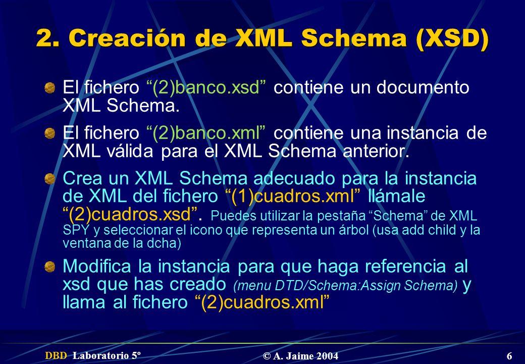 2. Creación de XML Schema (XSD)