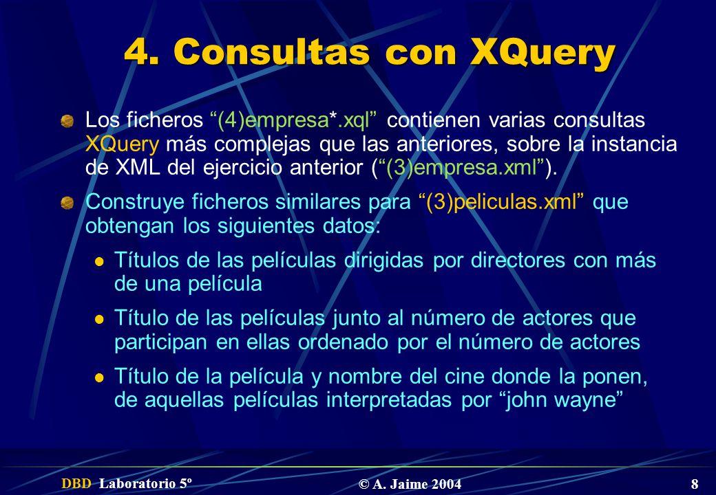 4. Consultas con XQuery
