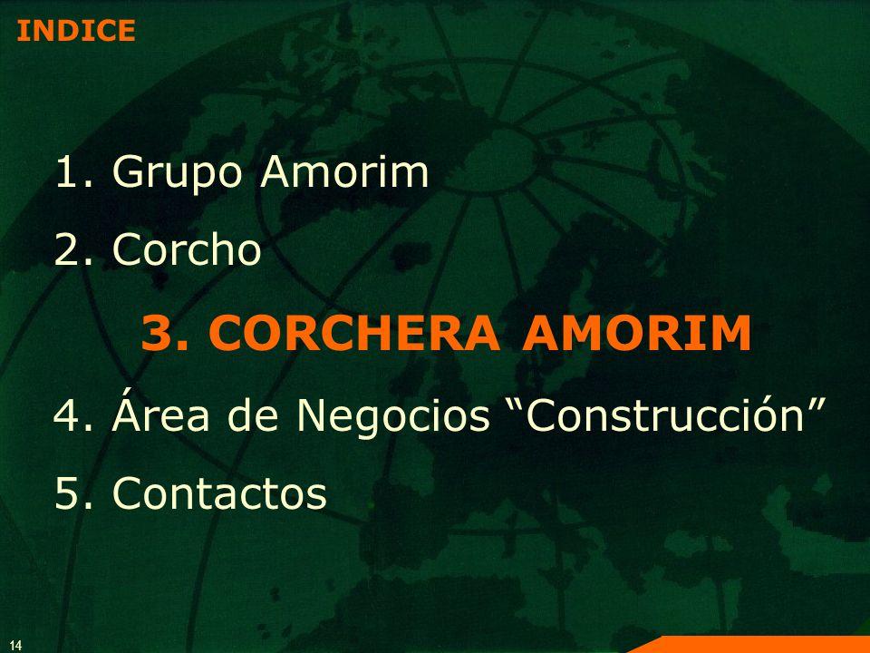 4. Área de Negocios Construcción 5. Contactos