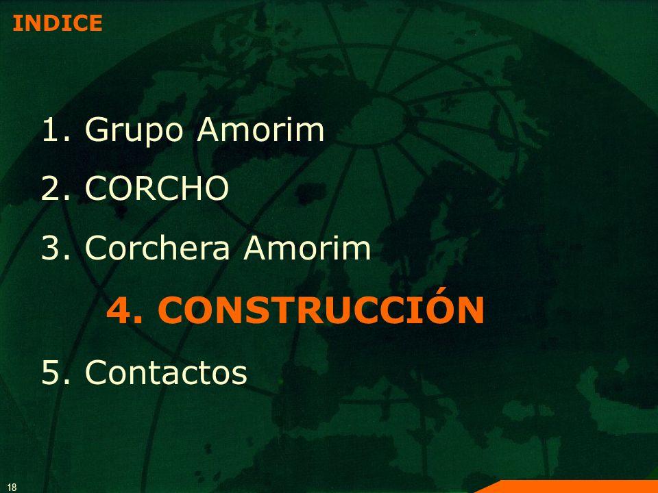 4. CONSTRUCCIÓN 1. Grupo Amorim 2. CORCHO 3. Corchera Amorim
