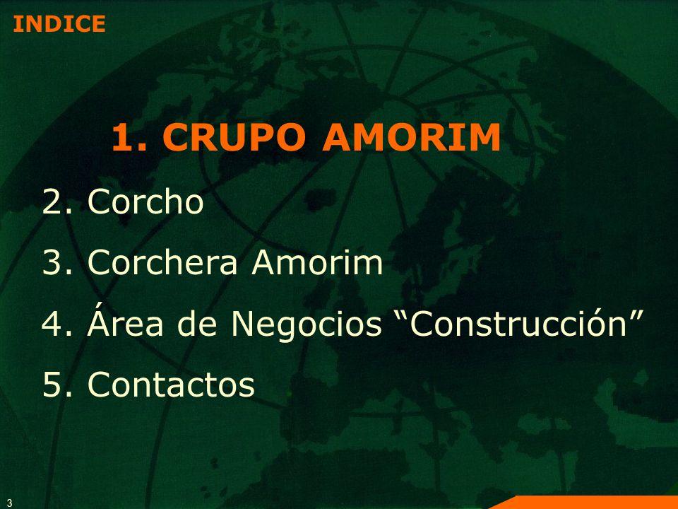 1. CRUPO AMORIM 2. Corcho 3. Corchera Amorim