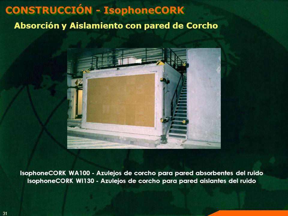 IsophoneCORK WI130 - Azulejos de corcho para pared aislantes del ruido