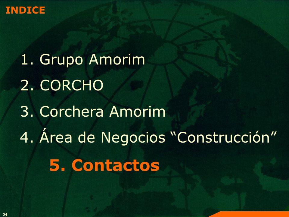 5. Contactos 1. Grupo Amorim 2. CORCHO 3. Corchera Amorim