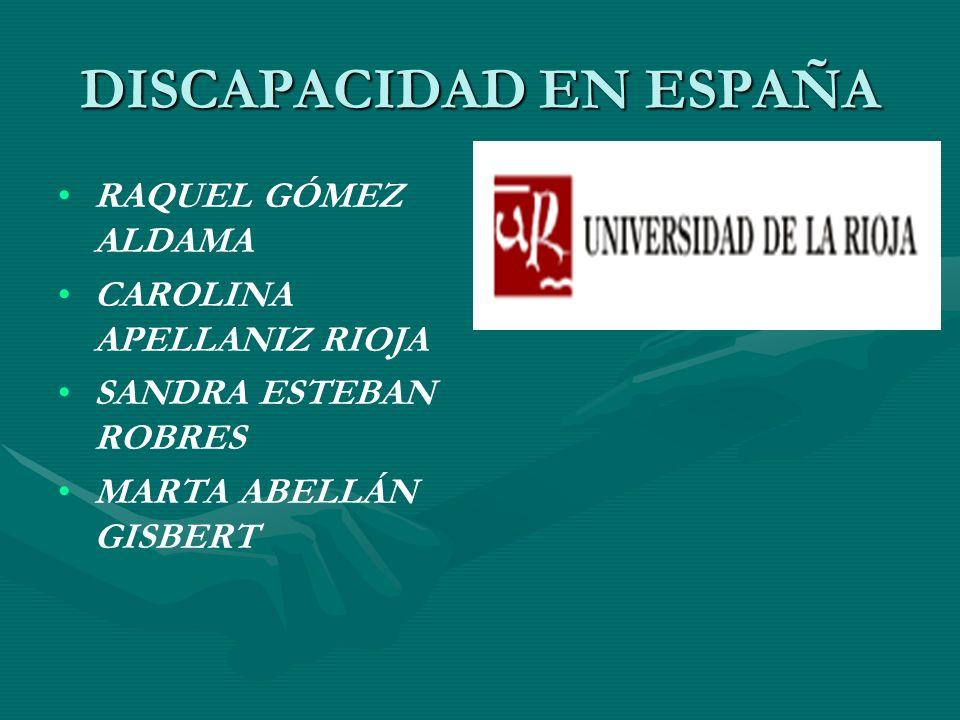 DISCAPACIDAD EN ESPAÑA