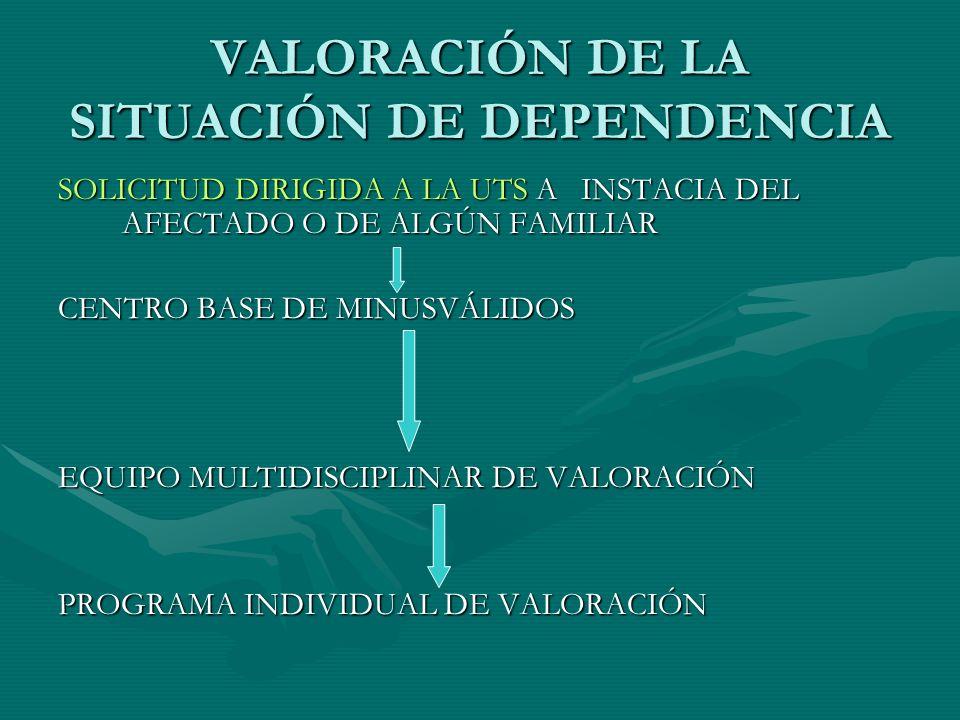 VALORACIÓN DE LA SITUACIÓN DE DEPENDENCIA
