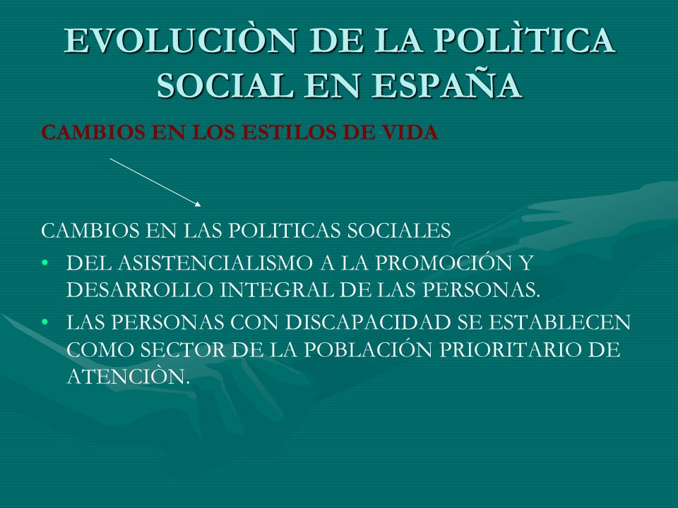 EVOLUCIÒN DE LA POLÌTICA SOCIAL EN ESPAÑA