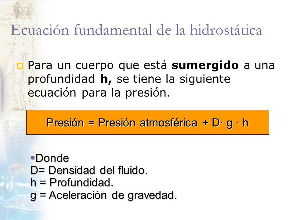 Ecuación fundamental de la hidrostática