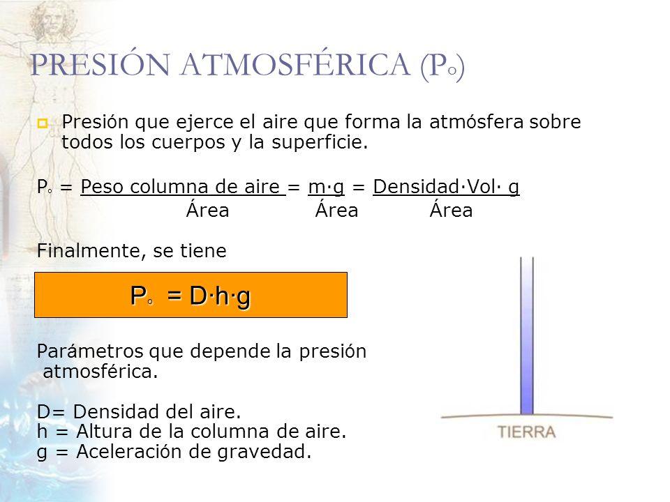 PRESIÓN ATMOSFÉRICA (Po)